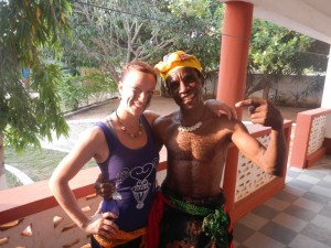 Erica Chipp with a Ghana local